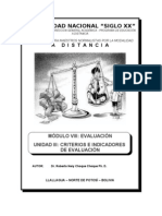 Modulo VIII. Evaluacion Unidad III. Criterios e Indicadores d