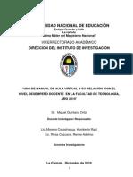 MANUAL AULA VIRTUAL Y NIVEL SEMPEÑO DOCENTE  TEC-2010-141 UNV GUZMAN VALL PERU