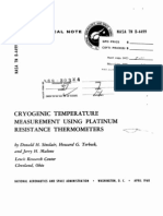 NASA Cryogenic Temperature Measurement Using Sprts