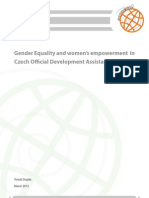 Gender Aspects of the Czech Development Assistance