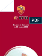 AS Roma SpA bilancio 2006 (Financial Report and Accounts)