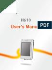 H610 Device Manual En