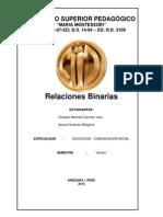 RELACIONES BINARIAS-MATEMATICA
