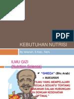 KEBUTUHAN NUTRISI, KDM[1]