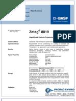 Chemicals Zetag DATA Inverse Emulsions Zetag 8819 - 0410