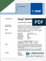 Chemicals Zetag DATA Inverse Emulsions Zetag 8848 FS - 0410