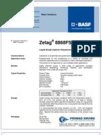 Chemicals Zetag DATA Inverse Emulsions Zetag 8868 FS - 0410