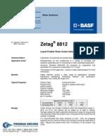 Chemicals Zetag DATA Inverse Emulsions Zetag 8812 - 0410