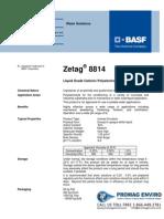 Chemicals Zetag DATA Inverse Emulsions Zetag 8814 - 0410