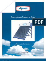 Ajover Manual Solar Water Heater Installation Es
