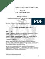 Ley 316 Despenalización del derecho a la huelga y la protección del fuero sindical en materia penal