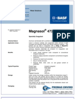 Chemicals Zetag DATA Magnasol 4725 G - 0410