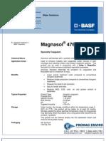 Chemicals Zetag DATA Magnasol 4765 G - 0410
