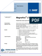 Chemicals Zetag DATA Organic Coagulants Magnafloc LT 7991 - 0410