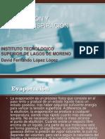 Evaporacion David Lopez Lopez