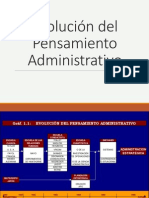Evolucion Del Pensamiento Administrativo SEMANA 5