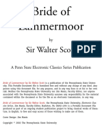 Sir Walter Scott - Bride of Lammermoor
