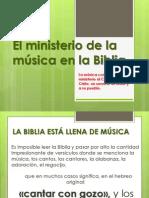 El ministerio de la música en la Biblia
