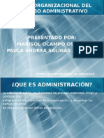Teoria Organizacional Del Proceso Administrativo Paula