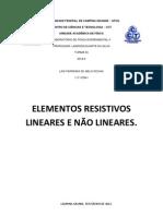 Experimental 2 - Elementos Resistivos