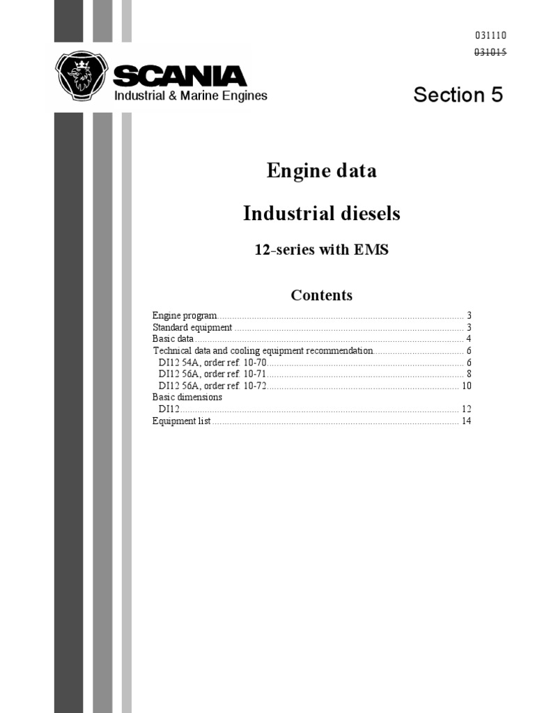 scania engine data 1588878 diesel engine engines