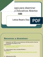 LBD Estrategia Para Diseminar Recursos Educativos Abiertos