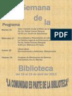 Programa Semana Biblioteca