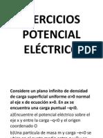 EJERCICIOS POTENCIAL ELÉCTRICO