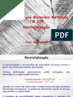 TM229 Recristalizacao Prof Cristiano Brunetti (2009) v2