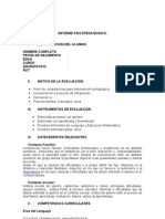 Formato Informe Pedagogico