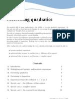 Web Factorisingquadratics