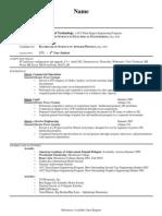 Sample Engineering Resume