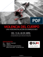 Violencia Del Cuerpo (Afiche)