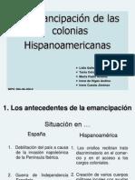 Emancipación colonias hispanoamericanas