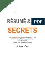 Cv and Resume Secrets