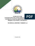 Anticipated Sea-Level Rise Coastal Louisiana Technical Report Version 1.4