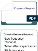 Transistor Frequency Response and Miller Effect