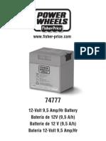 Manual Bateria 74777 de 12V 9A