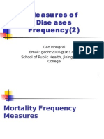 Measures of Disease Frequency 0903_gaohongcai(2)