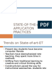 State of the Art ET Application Practices