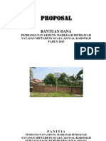 Proposal Pembangunan Madrasah Ibtida'iyah