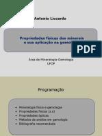 Gemologia 01 - Propriedades físicas