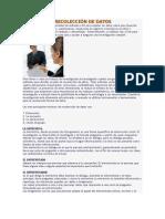 TECNICAS DE RECOLECCIÓN DE DATOS