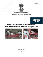 DRAFT HYDRO-METEOROLOGICAL DATA DISSEMINATION POLICY (2013)