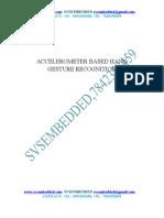 Accelerometer Based Hand Gesture Recognition
