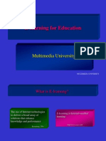 E Learning for Education