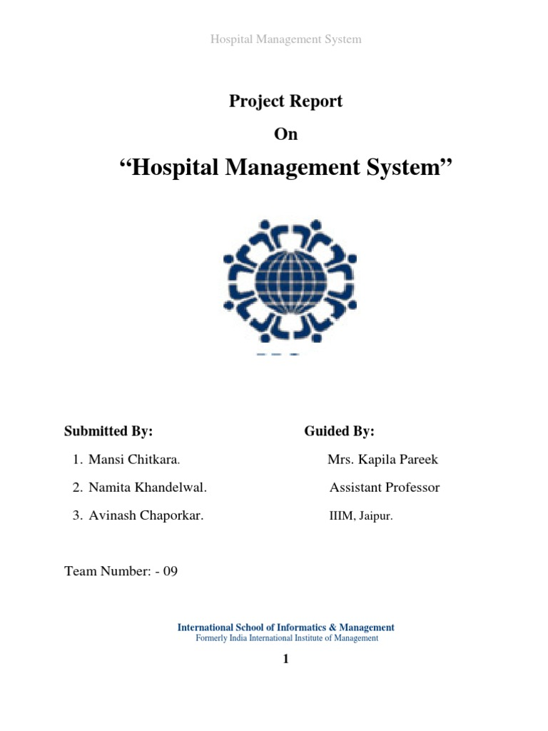 09 Project-Hospital Management System | Feasibility Study