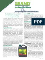 AGGRAND® Fish Emulsion vs Fish Hydrolysate