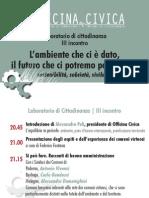 Introduzione presidente - 3° incontro