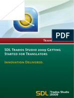 Training Course SDL Studio 2009 for Translators
